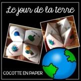 Jour de la Terre (French Earth Day Cootie Catcher) Cocotte en papier