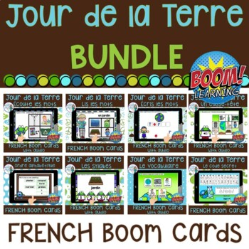 Jour de la Terre:  French Earth Day Digital Task Cards BUNDLE - BOOM CARDS