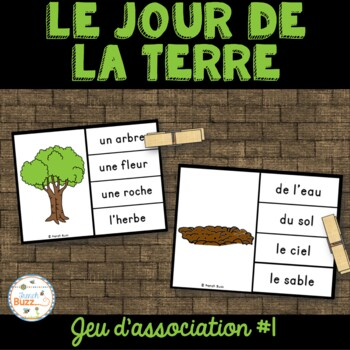 Jour de la Terre - jeu d'association #1 - French Earth Day Clip Cards
