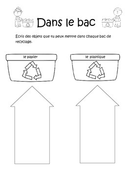 Jour de la Terre/French Earth Day Vocabulary and Activities