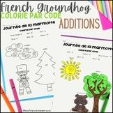 Jour de la marmotte - Colorie par code (Addition)