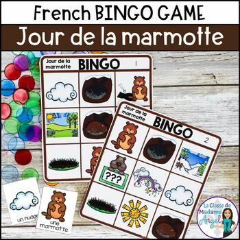 Jour de la marmotte:  French Groundhog Day Bingo Game