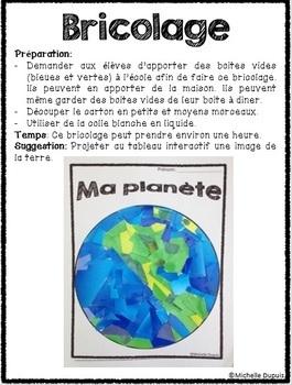 Jour de la terre  (produit en français - French Earth Day product)