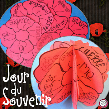 Remembrance Day 3-D Poppy Craft in FRENCH