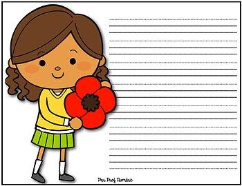 Jour du Souvenir - Cahier d'écriture au 1er cycle
