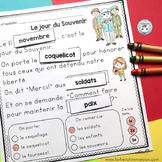 Jour du Souvenir French Reading Comprehension | Compréhension de lecture