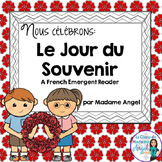 Jour du Souvenir:  Remembrance Day Emergent Reader in French