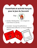 Jour du Souvenir / Remembrance Day French PowerPoint and Activity