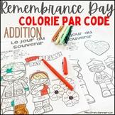 Jour du souvenir - Colorie par code