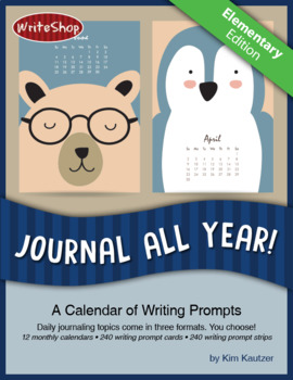 Journal All Year! Elementary Writing Prompt Calendar