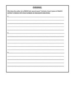 Journal Article Argument Analysis Worksheet