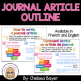 Journal Article Outline (Plan d'un article de journal) - FRENCH and ENGLISH