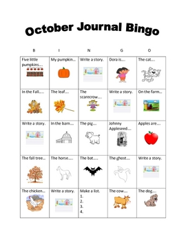 Journal BINGO October