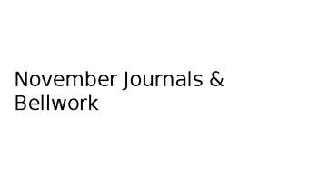Journal / Bellwork Activities