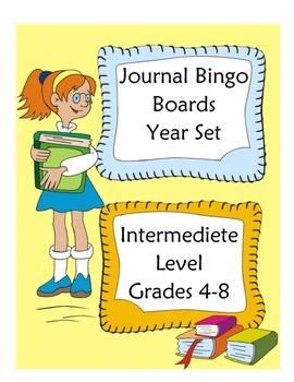Journal Bingo Boards 5x5 Intermediete Level
