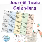 Journal Calendar of Topics Middle and Upper grades #thankful4u
