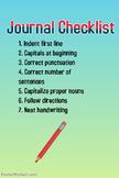 Journal Checklist