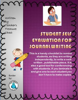 Journal Checklist for Students