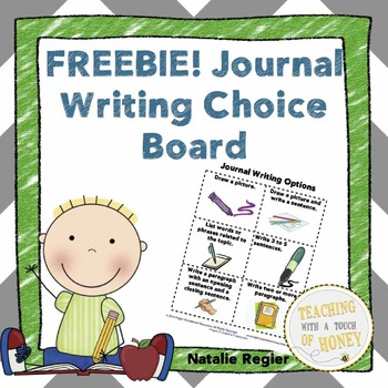 Journal Choice Board FREEBIE!