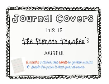 Journal Covers and Starter Words[12 months]