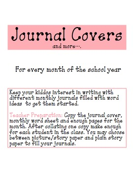 Daily Writing Journal Covers and more...