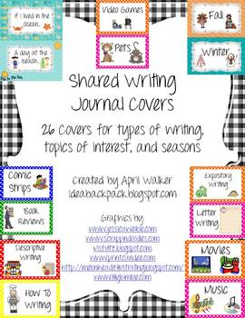Journal Covers for Shared Writing Journals
