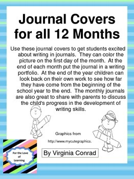 Journal Covers for all 12 Months