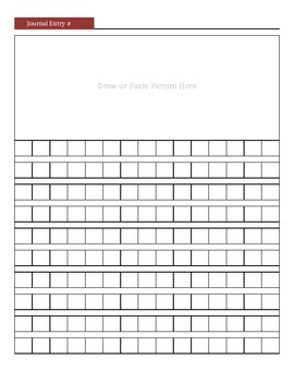Journal Diary Template with Rubric