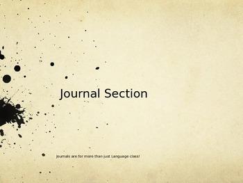 Journal Divider for Binder