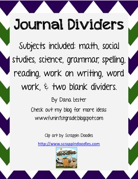 Journal Dividers