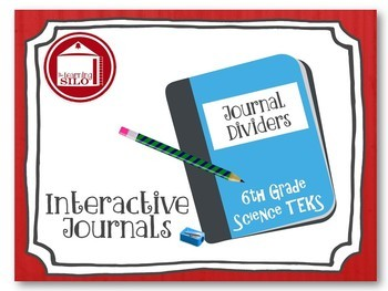 Journal Dividers and Student Progress Monitoring - 6th Science