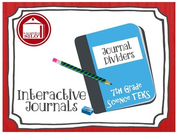 Journal Dividers and Student Progress Monitoring - 7th Science