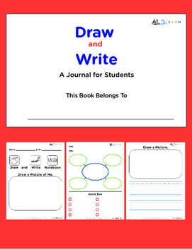Visual Journal: Draw and Write For Students - Autism Special Ed Visual Learner