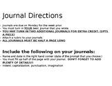 Journal Editable Calendar 2017-2018