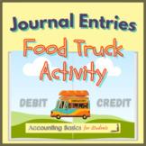 Journal Entries Food Truck Activity