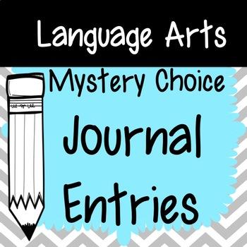 Journal Entries- Mystery Choice