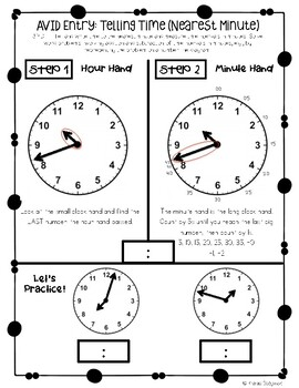 Journal Entries: Telling Time to Nearest 5 Minutes and Nearest Minute