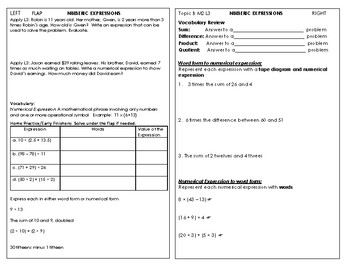 Journal Entries for 5th Grade Math NBT, OA, MD. Module 2 L 1-23