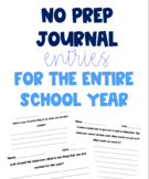 Journal Entries for Entire School Year