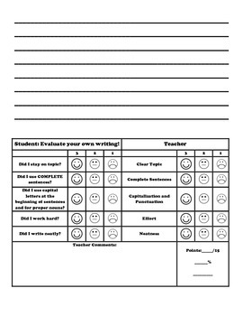 Journal Entry Pages with Rubric