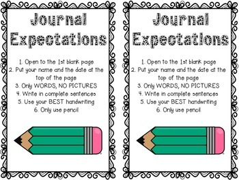 Journal Expectations FREEBIE