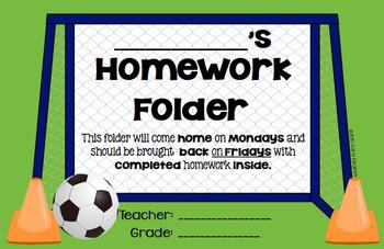 Journal/Folder Labels - Sports Themed