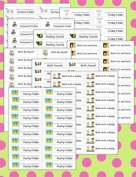 Journal, Folder, and Center Tub Labels