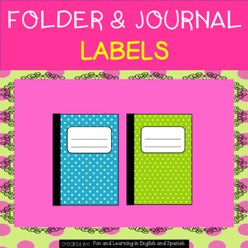 Journal, Folder, and Center Tub Labels