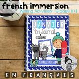 French Writing Prompts - Maternelle (janvier) Première Année