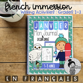 Janvier Journal Prompts and Directed Drawing for Winter FRENCH