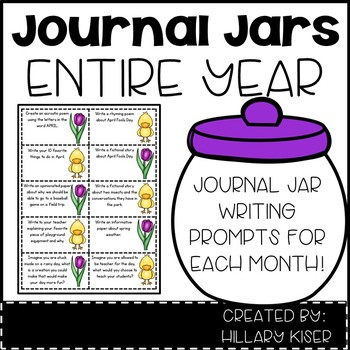 Journal Jar Writing Prompts for the Entire Year!
