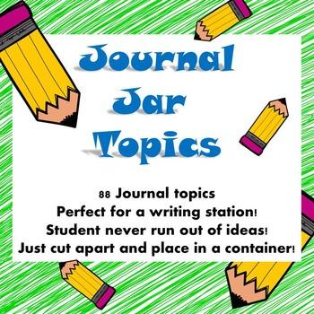 Journal Jar Topics
