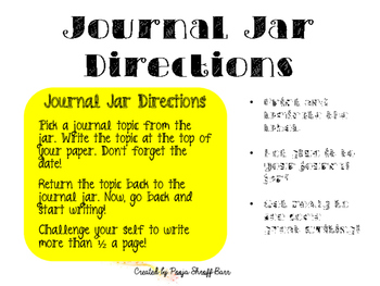 Journal Jar Writing Center