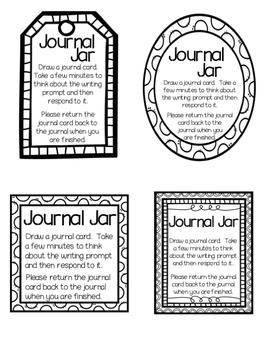 Journal Jar Writing Prompts {Back to School Themed)